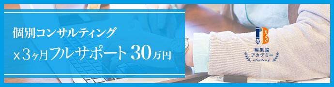 個別コンサルティング(3カ月フルサポート) 30万円